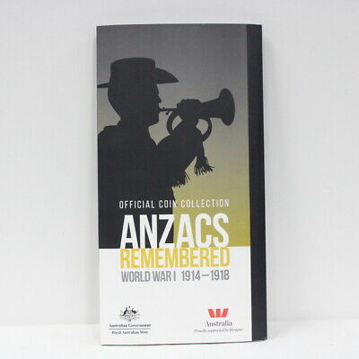 Official Coin collection Anzacs Remembered World War I 1914- 1918 #305