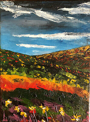Plein Air Abstract Textured Oil Painting Canadian Newfoundland Native Artist