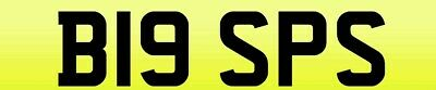 B19 SPS - Ducati 916 SPS / BIG Personalised / Personal / Private Number Plate