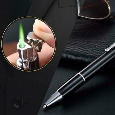 Portable Metal Adjustable Straight Flame Windproof Point Ball Pen Lighter G B0A6