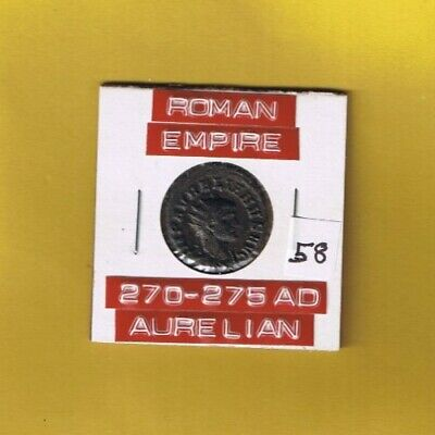 "Ancient Roman Empire Coin of ""Aurelian""  270-275  AD....  AE antoninianus"