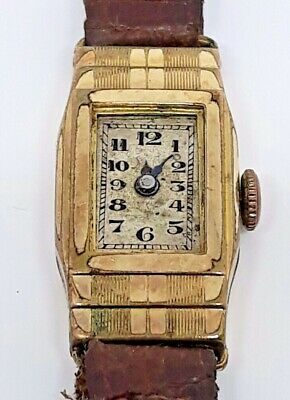 Vintage 1920's Selfyr Ladies L Rolled Gold 10 Years Watch Swiss Made Movement