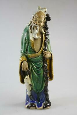 Vintage Chinese Hand Made Old Man Ceramic Figure