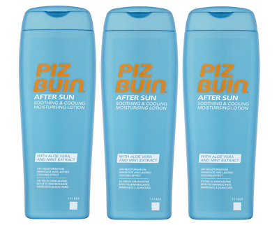 3x Piz Buin After Sun Soothing& Cooling Moisturising Lotion with Aloe Vera 200ml