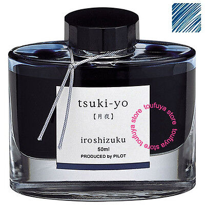 New Pilot Color Fountain Pen Ink Iroshizuku Blue Tsukiyo INK-50-TY 50ml