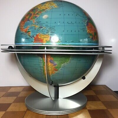 Cram World Globe Space Age Atomic George Jetson Stand Classica Made USA Vintage