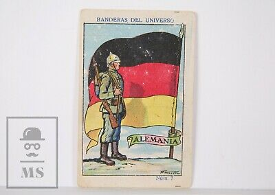 1920's Trading Card - Flag & Soldier. 7, Germany - Spanish Coffee Adv.