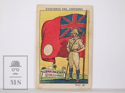 1920's Trading Card - Flag & Soldier. 20, Great Britain Colonies -Spanish Coffee