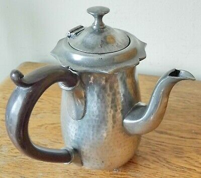 Superb Vintage 1936-53 Arts & Crafts Style Leadless Pewter Chocolate Coffee Pot
