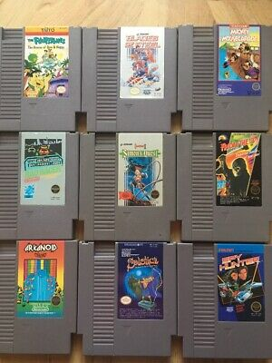 Nintendo NES Game Lot 9 NES Games All Tested And Working!