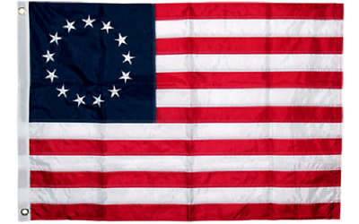 3x5 Embroidered Betsy Ross USA 200D Sewn Nylon Flag Banner (B4L)