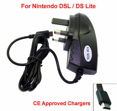 Mains Charger for Nintendo DS LITE NDSL DS-L DSL Wall Adapter Power Supply Plug
