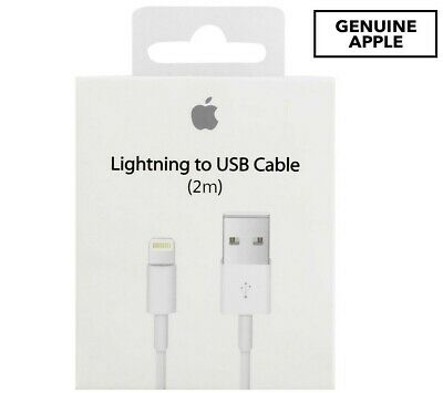(2M) Genuine Original OEM Apple Lightning USB Charger Cable Cord iPhone 6 7 8 X