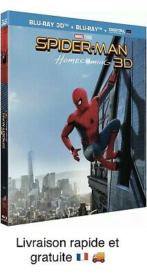 Film SPIDER-MAN Homecoming 3D +BD Blu-ray 3D Blu-ray UltraViolet Francais DVD