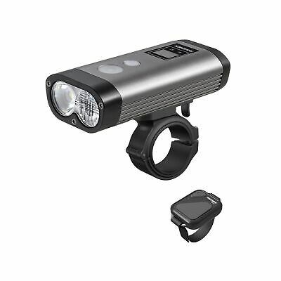 Front Bike Light Raveman PR1600 Rechargable With Remote 1600 Lumens Grey