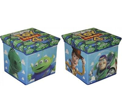 New Toy Story 4 Children's Storage Box & Cushioned Bedroom Stool Kids Seat 60853