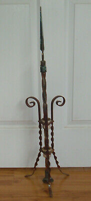 Antique Victorian 1900s Fancy Scroll Lightning Rod Weathervane Farm Barn