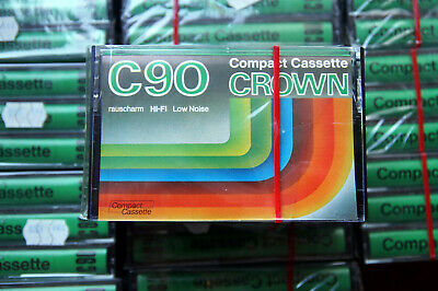 36 x CROWN Low Noise C 90 Cassette Tapes + OVP + SEALED +