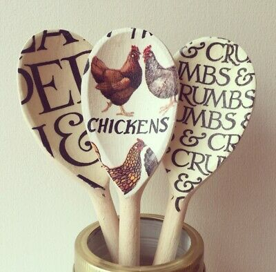 Emma Bridgewater Themed Set Of 3 Utensils - Hen & Toast And Black Toast
