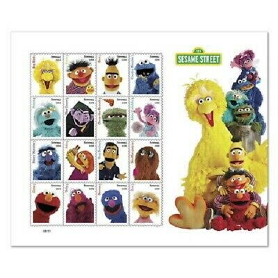 US STAMP 2019 Sesame Street, Pane of 16 Stamps, 1 MINT NEVER HINGED(FRESH)