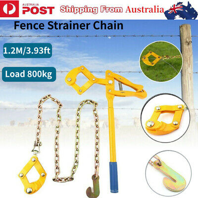 Heavy Wire Fence Strainer Plain & Barbed Fencing Repair Tool Chain 1.2M/3.93ft