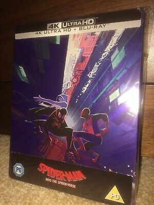 Spider-Man Into The Spider-Verse 4K UHD + Blu Ray Steelbook New Not Sealed RARE