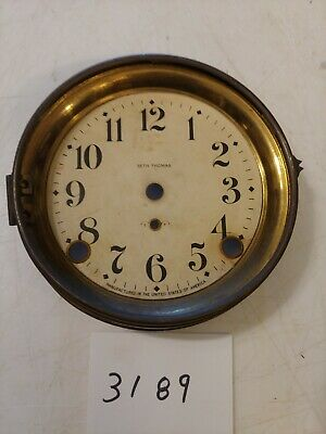 Antique Seth Thomas  Mantle Clock Dial And Bezel No Glass