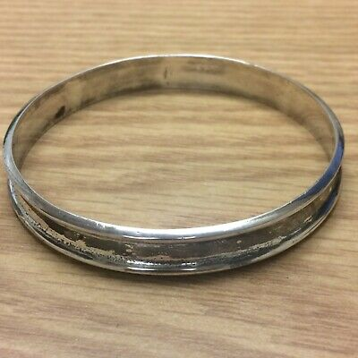 Vintage TAXCO MEXICO Artist Stamp Sterling Silver Unique Bangle handmade
