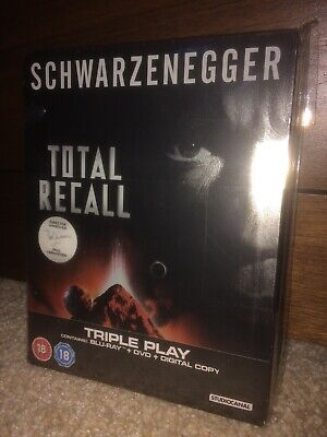 Total Recall (1990) Blu Ray Steelbook New & Sealed HMV Exclusive RARE