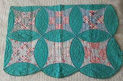 Summery Vintage Improved Nine-Patch Cutter Quilt Pc - 25 in x 36.5 in (6040)