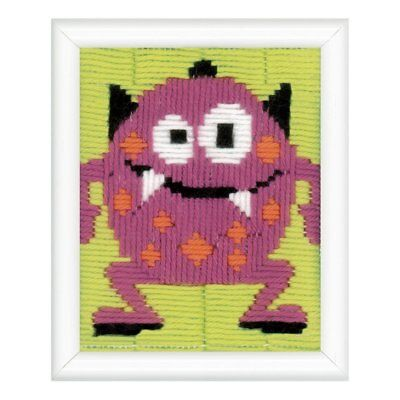 Vervaco Pink Little monster Long stitch kit PN-0150519