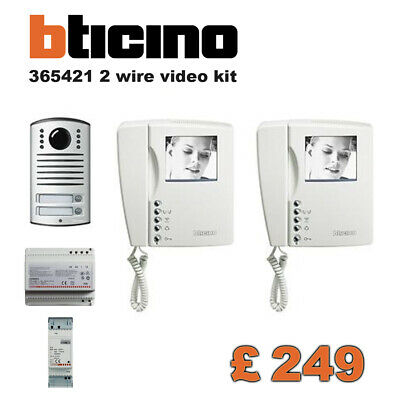 Bticino Terraneo 365421 2 Fili Video Kit B/N Bifamiliare Quality Intercom