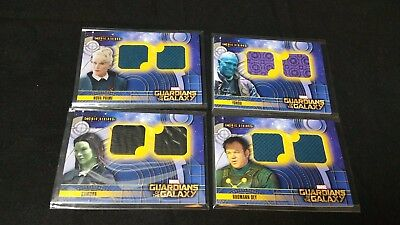 Lot of 4 Guardians of the Galaxy Cosmic Strings costume memorabilia card