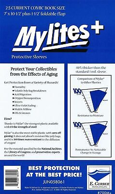 25 Mylites+ CURRENT SIZE (Modern) 1.4-mil Mylar Comic Bags 700M+ by E. Gerber
