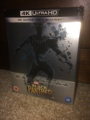 Black Panther 4k UHD Blu Ray Steelbook New & Not Sealed Zavvi Exclusive OOS