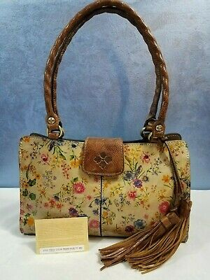 Patricia Nash Rienzo Prairie Rose Leather Shoulder Bag NWOT