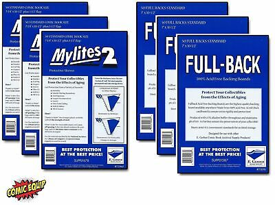 150 Mylites2 STANDARD Mylars Sleeve & Full Back 42pt Boards 725M2/700FB E.Gerber