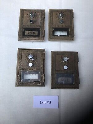 4 USPS Vintage Combination PO Box doors from post office Lot#3