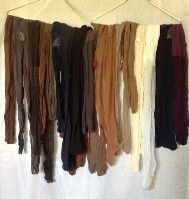 Lot 20 Pantyhose For Crafts /Painting Sheer Assorted Colors Sizes & Brands