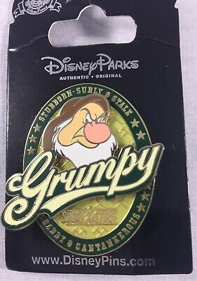 NEW Disney's GRUMPY Trading Pin, Authentic, on Original Card