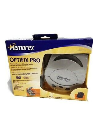 Memorex Optifix Pro Motorized Media CD Disc Cleaning & Repair (NEW) OPENED box