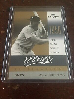 Mickey Mantle SP #18/75 MVP Celebrations 2003 Upper Deck MVP