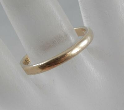 Antique 14 Karat Yellow Gold Wedding Band Ring Ostby Barton Size 8 1/2 14K F0900
