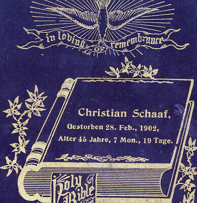 post mortem funeral card for Thomas Simposon 1898