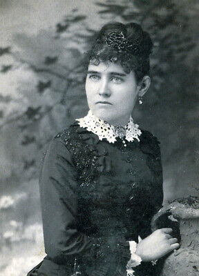 she had the looks but not marriage material? Woman in black