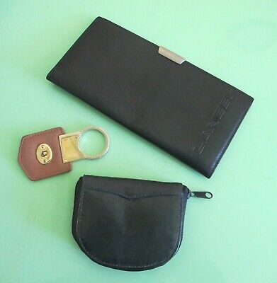 Dior KEY RING Leather Card & Cheque WALLET & Leather COIN PURSE Vintage Gift