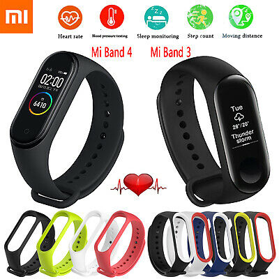Xiaomi Mi Band 4 3 Smart Band Watch AMOLED BT Heart Rate Monitor Waterproof Lot