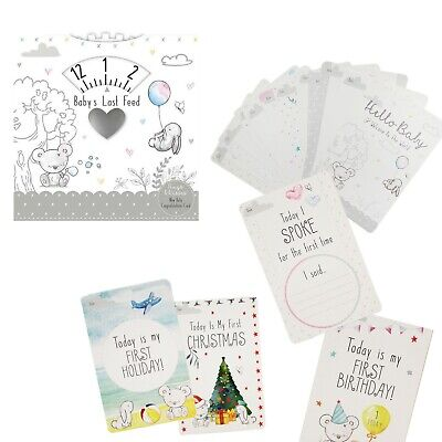 Hugs & Kisses Baby Shower Gifts Last Feed Timer OR 30 Memorable Milestone Cards