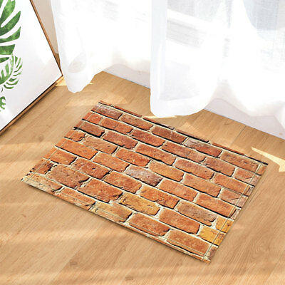 Village Brick Wall Door Mat Bathroom Rug Bedroom Carpet Bath Mats Rug Non-Slip