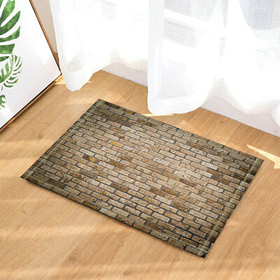 Mottled Brick Wall Door Mat Bathroom Rug Bedroom Carpet Bath Mats Rug Non-Slip